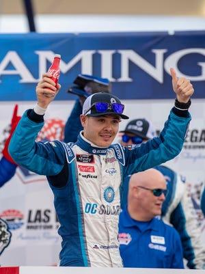 Kyle Larson wins Boyd Gaming 300 at Las Vegas Motor Speedway Saturday.