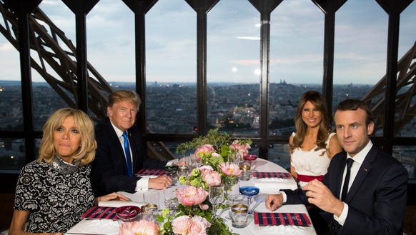 The American first family and their French counterparts