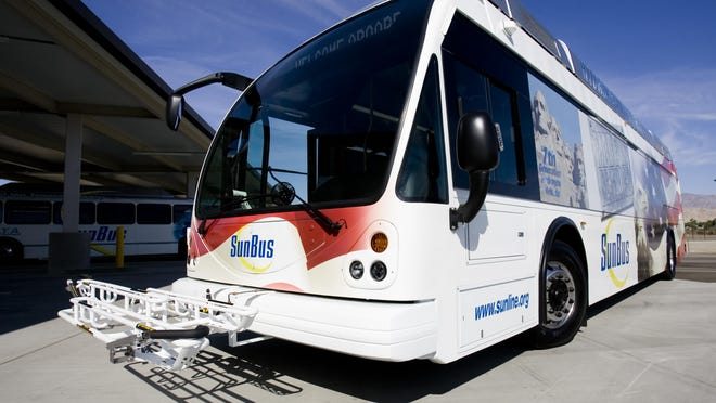 A SunLine bus is photographed in this 2011 Desert Sun file photo.