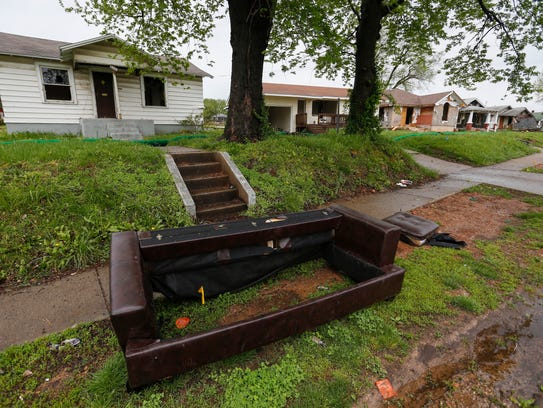These vacant, dilapidated houses are being torn down