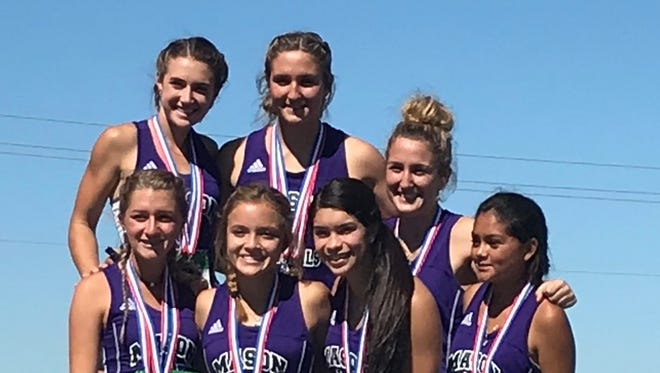 The Mason High School girls were second overall at the Region IV-2A Cross Country Championships Monday, Oct. 23, 2017, in Corpus Christi.
