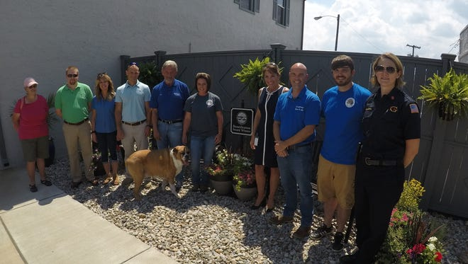 Derryberry's Heat and Air received the Gallatin Beautification Award for its efforts to renovate, landscape and improve the look of the business.