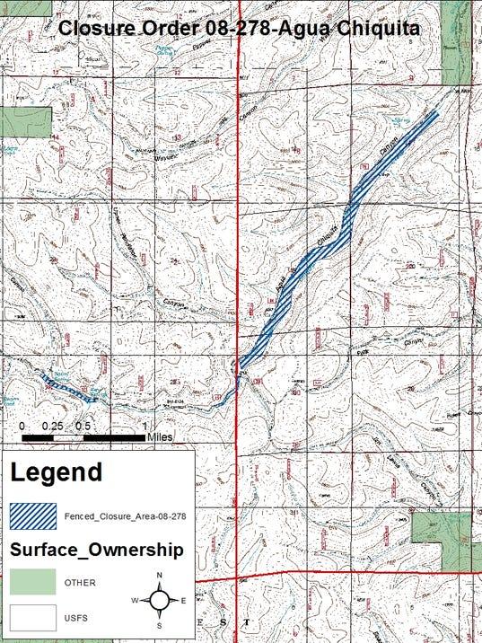 Agua Chiquita Map