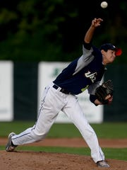 John Troll pitches for the Richmond Jazz against the