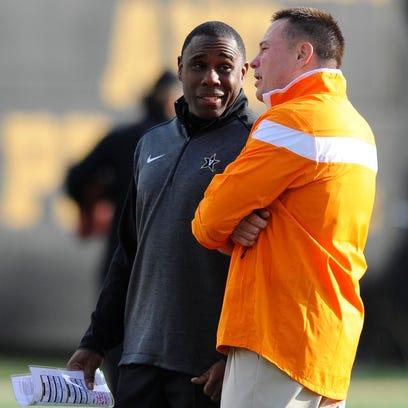 Vanderbilt's Derek Mason and Tennessee's Butch Jones