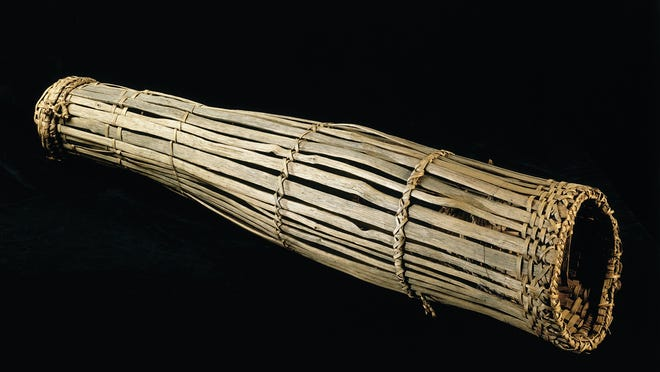 """An eel trap is among the many objects included in the Peabody Museum's new online exhibit """"Listening to Wampanoag Voices: Beyond 1620,"""" which launched Thursday."""