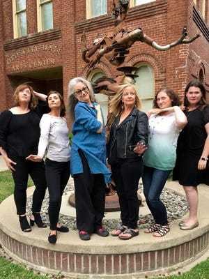 """Left ro right: Tammy Jones, Jessica Weichman, Elsie Ritchie, Pamela Carney, Lizzie Stoxen and Hannah Prewett perform in """"The Bucket List"""" at Old City Hall."""