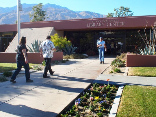 The City of Palm Springs Library Center, part of the Baristo neighborhood on Friday, December 9, 2011.  (Richard Lui The Desert Sun)