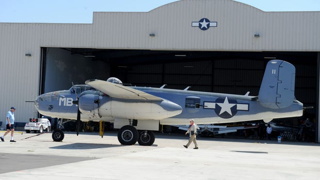 A PBJ-1J sits outside a hangar for the Southern California Wing of the Commemorative Air Force in Camarillo. The CAF will host a D-Day anniversary event June 8.