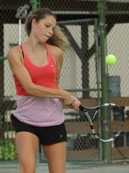 Sylvia Goldsmith repeated as girls 16 singles champ