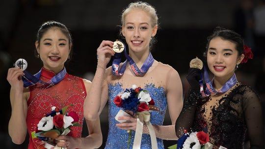 U.S. women's figure skating Olympic team set: Bradie Tennell, Mirai Nagasu, Karen Chen