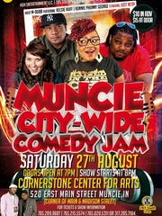 Muncie City Wide Comedy Jam takes place Saturday, Aug. 27 at Cornerstone.