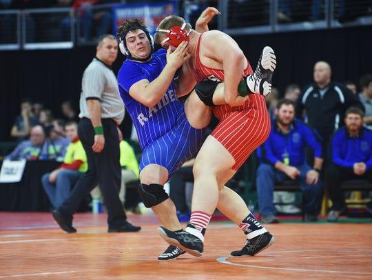 Chamberlin's Nash Hutmacher wrestles Rapid City Steven's