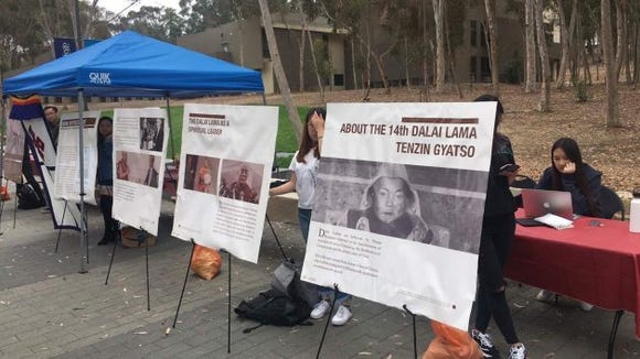 dalai lama ucsd protest