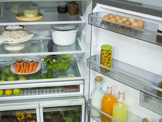 Stop storing milk and eggs in the refrigerator door.