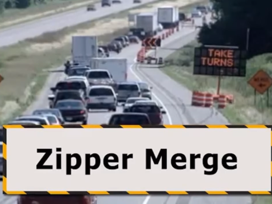 Zipper merge