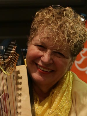 Edie Elkan and other therapists from Bedside Harp have given the gift of a soothing harp therapy session to hundreds of clients this year.