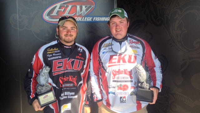 EKU anglers Kyle Raymer, left, and Ethan Snyder