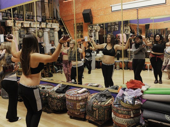 Belly dancers rehearse at NEMA Belly Dance for a performance at last year's Multicultural Festival in Oxnard.