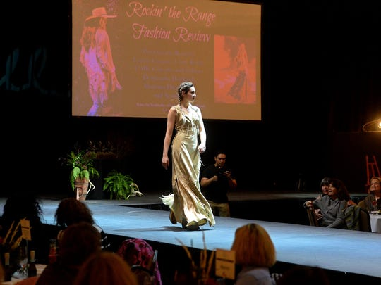 A model shows off a design from Montana Dreamwear at the Rockin' the Range Fashion Review, a benefit for the C.M. Russell Museum's educational programs.