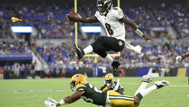 Baltimore Ravens offensive coordinator Greg Roman is tweaking and refining a record-setting unit led by NFL MVP Lamar Jackson, who is expected to again be the key component of an attack with several newcomers in the mix.