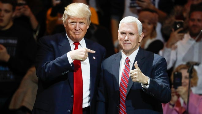 President-elect Donald Trump and Vice President-elect Mike Pence in Cincinnati on Dec. 1, 2016.