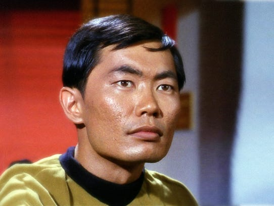 George Takei in his iconic role as Hikaru Sulu in the