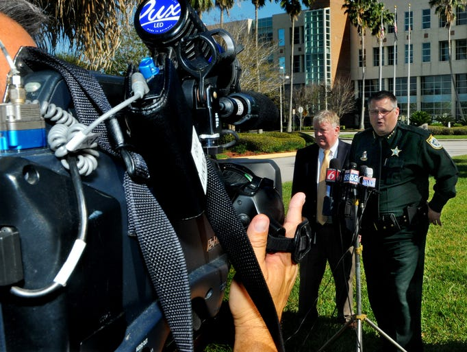 Brevard County Sheriff Wayne Ivey speaks during a press conference after a jury found Brandon Bradley guilty of shooting and killing deputy Barbara Pill in March 2012.