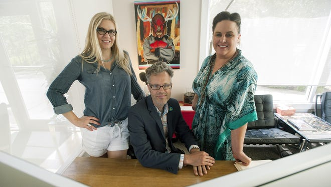 Raina Lee Scott, left, Christopher Craig, center, and Annika Schauer have started Beeswax Websites, which allows Etsy users to easily create their own websites for their products. The site is scheduled to launch June 21.