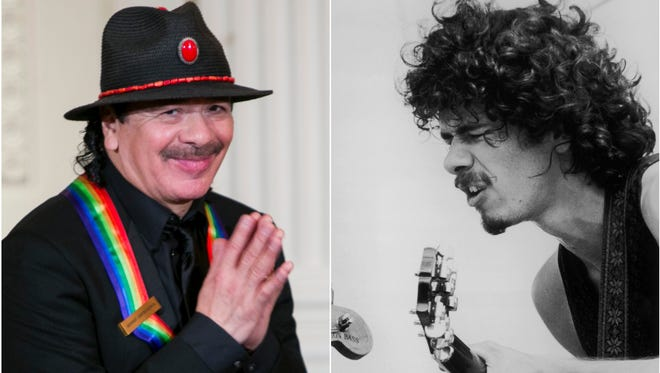 Carlos Santana, seen as a Kennedy Center honoree in 2013 and a Woodstock performer in 1969.