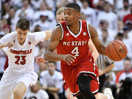 North Carolina State Wolfpack guard Dennis Smith Jr.