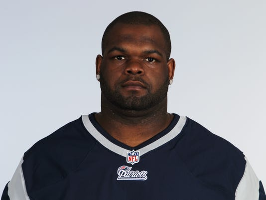 FILE - This is a June 10, 2012 photo of Ron Brace of the New England Patriots NFL football team. This image reflects the New England Patriots active roster as of Sunday, June 10, 2012. Brace's cousin, Shaunta Brace, confirmed Sunday, April 24, 2016, that Ron Brace has died. She says he died Saturday at his home in Springfield, Massachusetts. The cause of death wasn't immediately known.  (AP Photo)