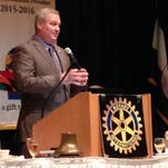 Phil Boggan, assistant secretary of the Louisiana Office of Cultural Development, speaks to the Alexandria Rotary Club Tuesday.