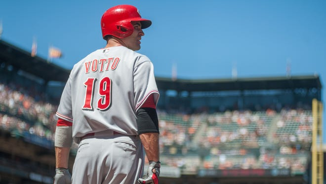 Joey Votto said if he's on the field, he considers himself 100 percent healthy.