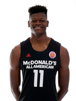 Mar 26, 2017; Chicago, IL, USA; McDonalds High School All-American center Mohamed Bamba poses for a photo during the 2017 McDonalds All American Game Portrait Day at Chicago Marriott.