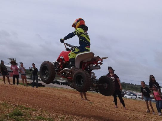 Valance Minor took the round 8 kids mini Atv class