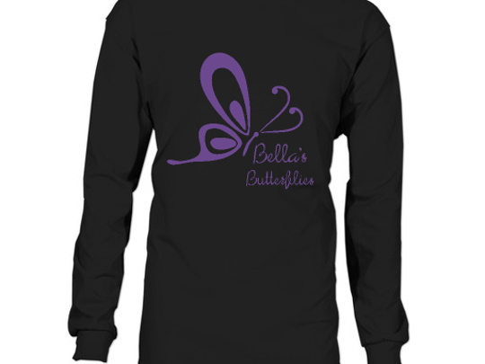 Bella's family is selling T-shirts and hoodies with the Bella's Butterflies logo on them to raise money for the cause.