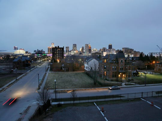 The aerial view from the Carlton Lofts on John R in