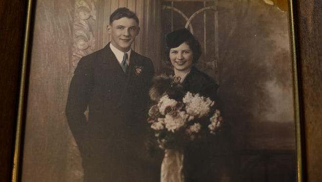 Herman and Madeline got married a little more than a year after they graduated from high school in 1935. They were married at 7:30 a.m. on a Wednesday.