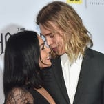 Actors Vanessa Hudgens and Austin Butler, seen here in December, shared Valentine's Day together.