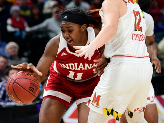 Newark graduate Kym Royster played four seasons at Indiana, starting every game in 2018-19 and helping the Hoosiers to the second round of the NCAA Tournament.