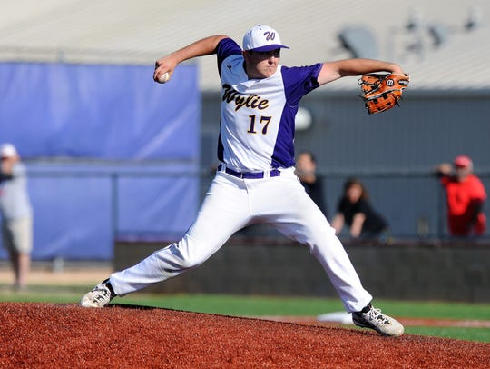 Wylie pitcher Kanon Doby (17) will be a key for the team this season on the mound. Doby stepped into the the rotation last season.
