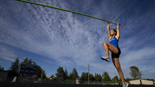 Churchill pole vaulter Emmi Freeman, who was the Midwestern League soccer player of the year in 2019, will compete in track and field at Sacramento State next year. [Chris Pietsch/The Register-Guard] - registerguard.com