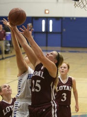 Karsyn Rueth helped lead the Greyhounds to a WIAA Division 5 sectional semifinal game this winter.