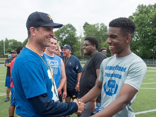 Jim Harbaugh currently has 27 commitments in his 2017