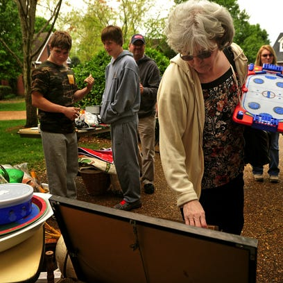 The big communitywide yard sales offer one-stop shopping for the scavenger.
