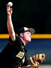 Red Lion's Sean Glatfelter pitches against La Salle