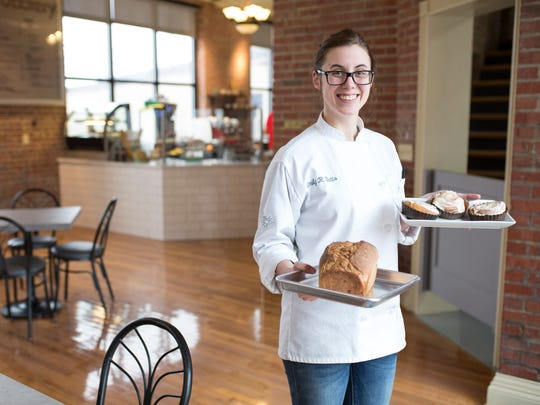 """Emily Butts opened 410 Bakery on Main Street in New Albany Sept. 21, 2016 offering artisan baked goods. Butts attended culinary school in New York City, before returning home to make baked goods at her father's New Albany Coffee Crossing locations. """"I just outgrew that space and this is exactly what I had in mind,"""" Butts said of her new location. Jan. 19, 2016"""