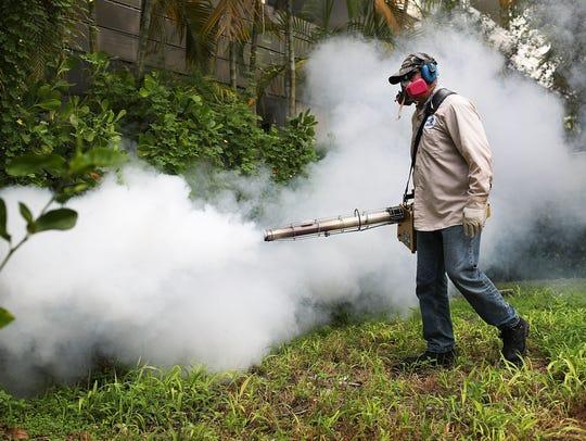 Carlos Varas, a Miami-Dade County mosquito control
