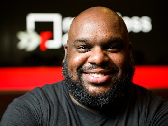 Pastor John Gray of Relentless poses for a portrait